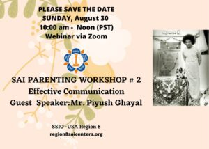 Region 8 Sai Parenting Workshop - Second session