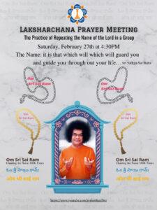 LAKSHARCHANA PRAYER MEETING – Chanting God's name 100K times @ SSIO Live Event